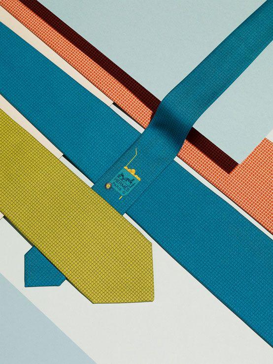 Hermès twill ties. Spring-Summer 2013. Photo : Max Farago.
