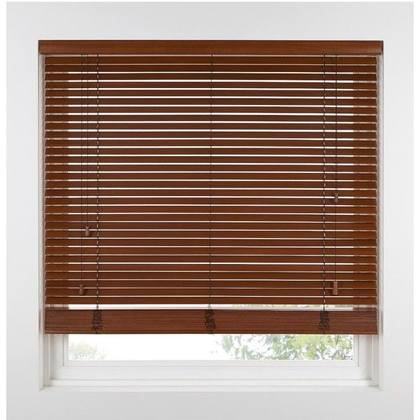 Custom Width Wooden Venetian Blinds With 3.8 Cm (1.5 Inch) Slats (£149) ❤ liked on Polyvore featuring home, home decor, window treatments, window blinds, window coverings, wood window shades, wooden blinds and wooden slat blinds