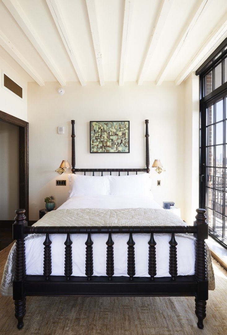 moroccan four poster bed New York hotelier