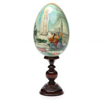 Russian Egg HAND PAINTED Fátima 36cm | online sales on HOLYART.co.uk