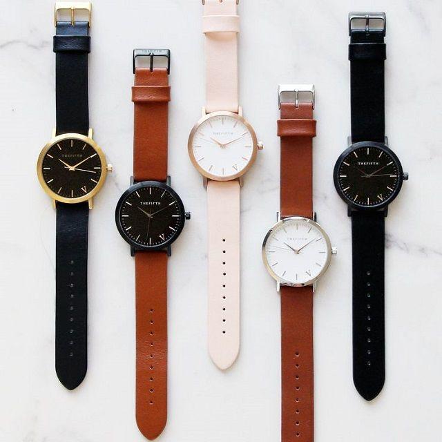【楽天市場】若干在庫あります!送料無料! 正規品 The Fifth Watches 本革腕時計 5カラー 男女兼用サイズ ビッグフェイス Melbourne Minimalモデル ※代引き不可商品:LAVISH GATE
