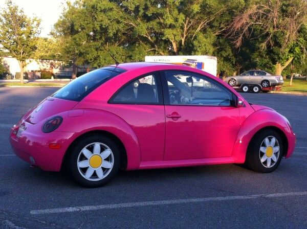 Pink Volkswagen bug. Want!!! But with black racing strips. And no daisy tires | Cars | Pinterest ...