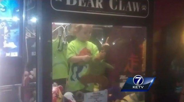 "A 3-year-old boy from Lincoln, Nebraska, was found stuck inside a claw-style toy machine at a bowling alley Monday. | Missing 3-Year-Old Boy Found Stuck Inside A ""Claw"" Toy Machine"