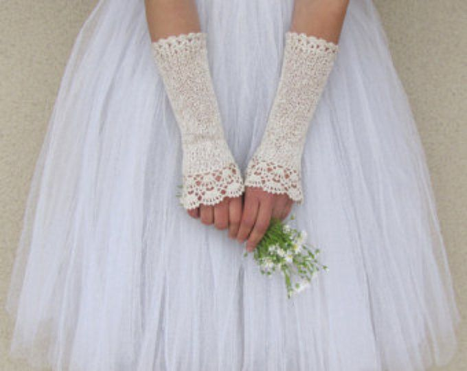 low priced 161eb 0b03d Guanti da sposa avorio, vittoriani guanti, guanti da sposa ...