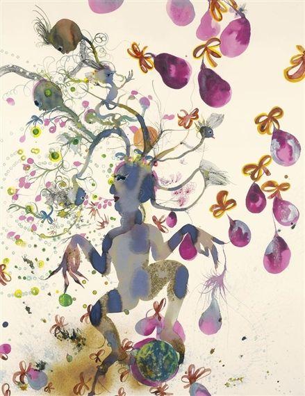 Rina Banerjee - THE STRAIN OF FRUIT EATEN TWICE...