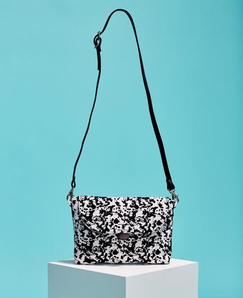 Splash-Print Cross Body Bag - Black // Kate Sheridan