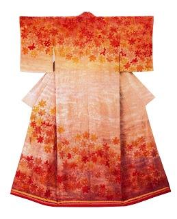 "Tsujigahana kimono • Itchiku Kubota. From the exhibition ""Kimono as Art: The Landscapes of Itchiku Kubota."""