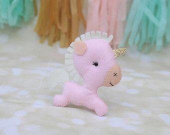Felt unicorn ornament Unicorn plush Stuffed Unicorn Christmas