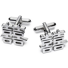 Double Happiness Cuff Links for the groomsmen- Silver