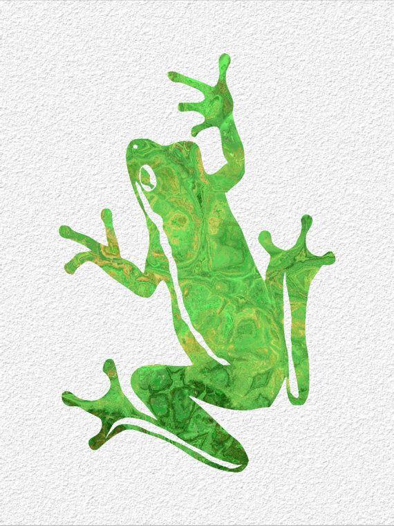 FROG  Archival Watercolor Art Print  5 x 7 by ImageDeSignStudio, $15.00
