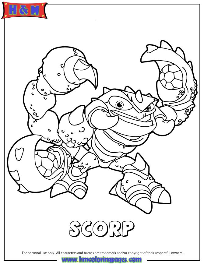 chaos skylanders coloring pages - photo#6
