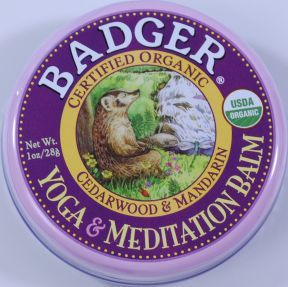 The Badger brand is well known in the organic community and their Yoga & Meditation Balm is a great addition to a meditation routine (fantastic cedarwood and mandarin scent!).