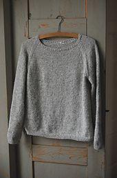 Ravelry: Silk Gray pattern by Gralina Frie basic sweater and free pattern