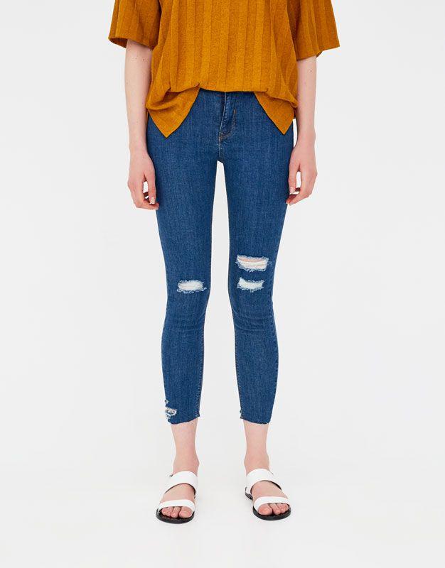 Skinny capri jeans - Jeans - Denim - HIDDEN - PULL&BEAR United Kingdom