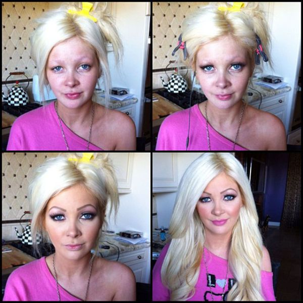 Porn Stars Before and After Their Makeup Makeover.... some of these are insane.