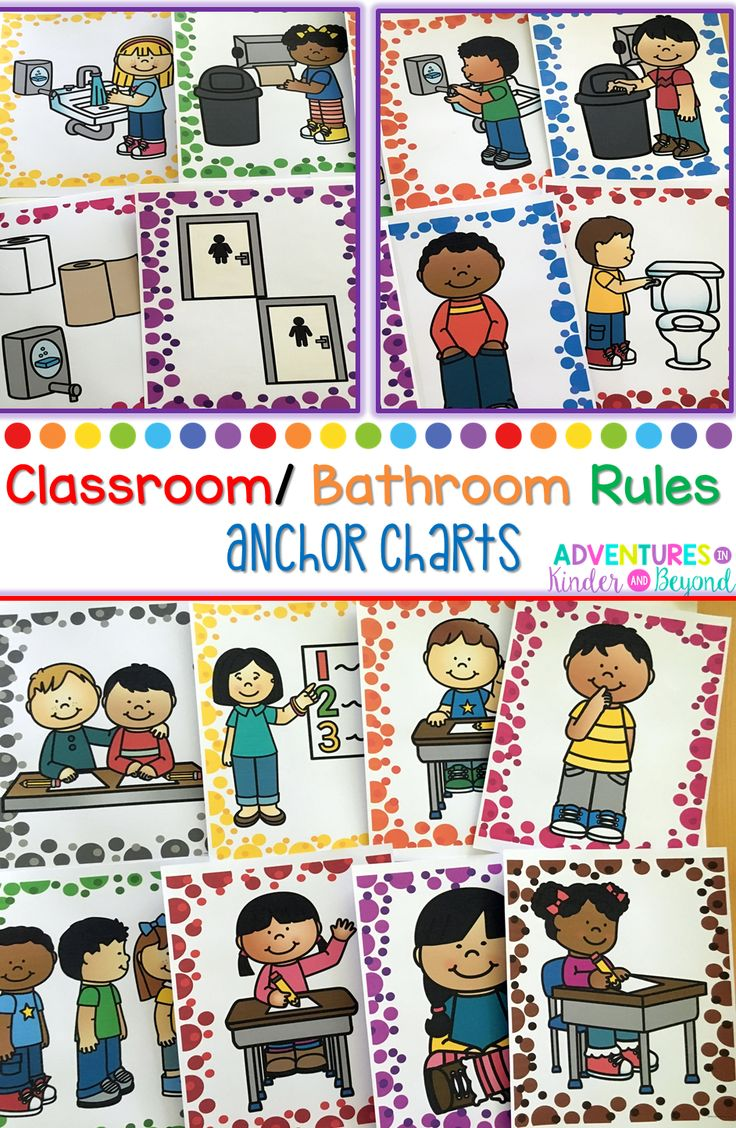 Bathroom rules picture - Classroom And Bathroom Rules Posters Anchor Charts