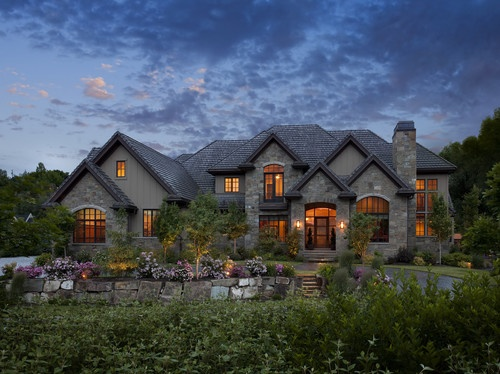 Exteriors   Traditional   Exterior   Salt Lake City   Joe Carrick Design   Custom  Home