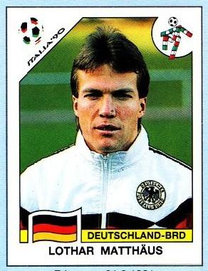 WM 1990 - Lothar Matthäus - Panini Sticker