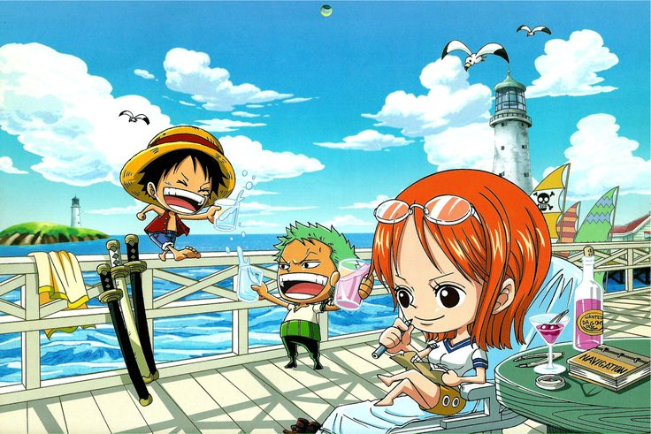 One Piece Chibi Desktop Wallpaper