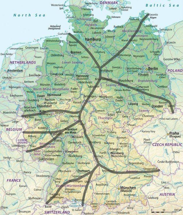 19 Landkarten Die Dir Eine Komplett Neue Sicht Auf Deutschland Geben Landkarte Landkarte Deutschland Karte Deutschland