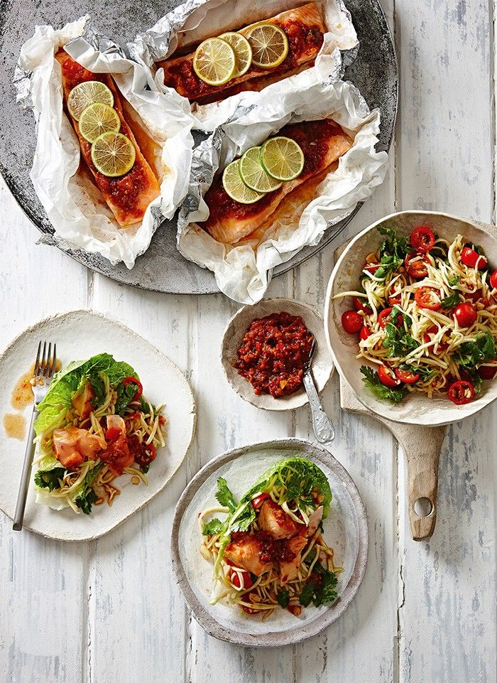 Salmon with Sambal Belacan and Green Mango Salad | MiNDFOOD