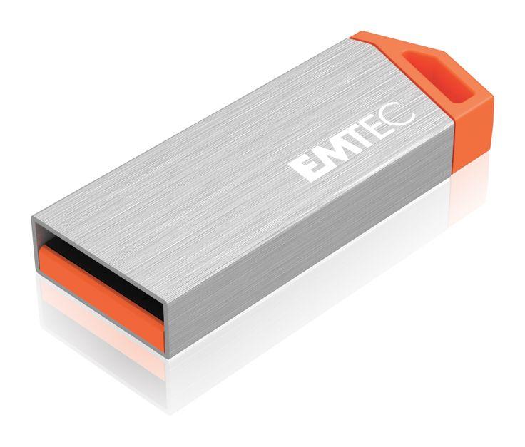 miniMetallic mini USB flash drive, front 3/4 - 16GB #EMTEC #FlashDrive