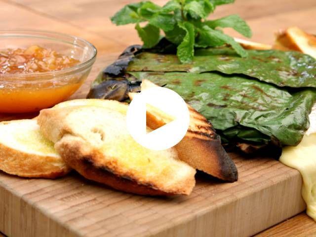 جبنة البري بورق الموز من الشيف طارق إبراهيم Recipe Recipes Food Cheese