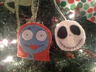 nightmare before christmas felt ornaments