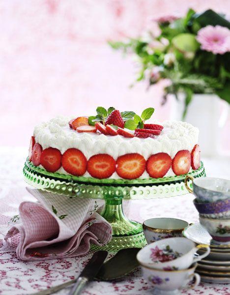 Mormors jordbærlagkage