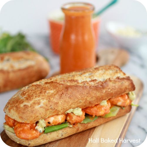 1 Grilled-Buffalo-Shrimp-Sandwich Recipe | Somewhat Simple