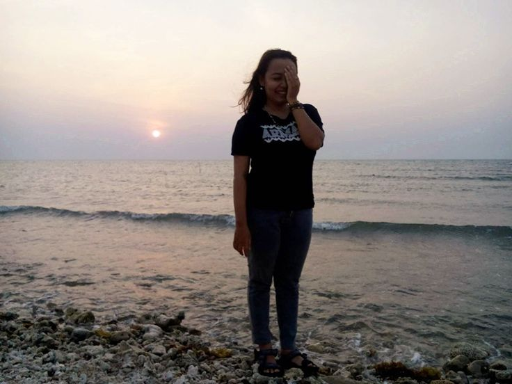 beautiful sunset, first time enjoy the sunset in PANTURA :) #BeHappy