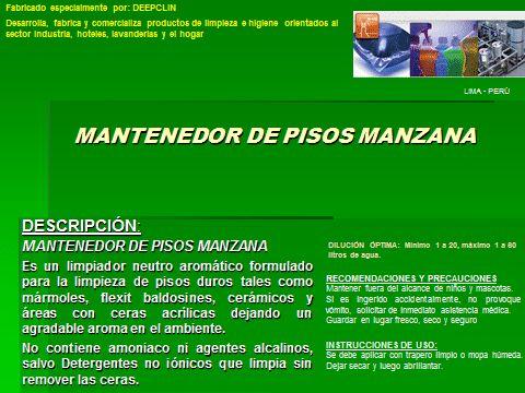 MANTENEDOR DE PISOS