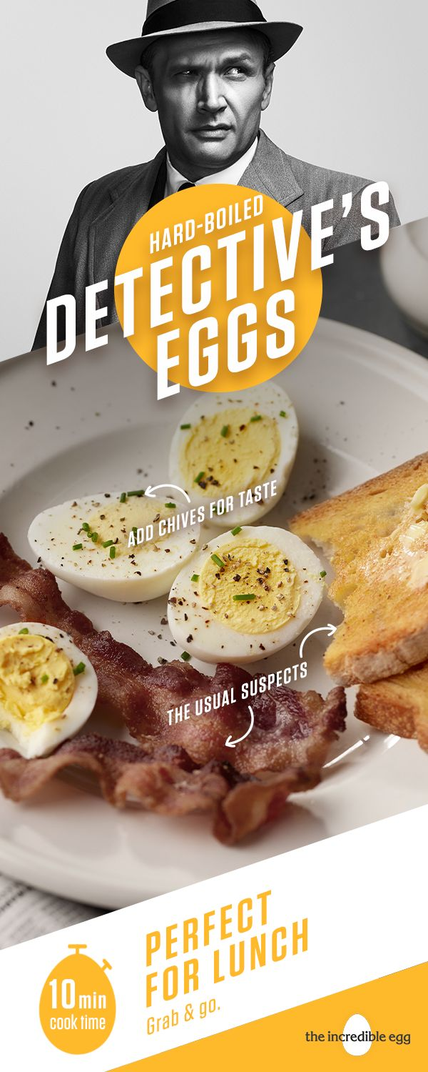You've found Hard-Boiled Detective's Eggs-the perfect way to resurrect your colored Easter eggs and then eat them. Hard-boiled eggs are perfect for a quick snack on the go, or simple, low-carb, spring lunch recipe. Serve them as protein-packed appetizer with a spread of dips every guest will love. How do you like your eggs?