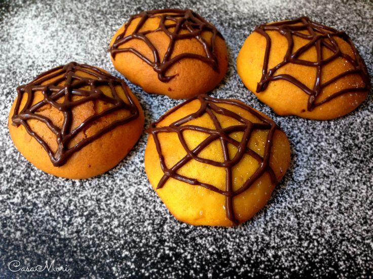 Biscotti ragnatela alla zucca | Ricetta Halloween