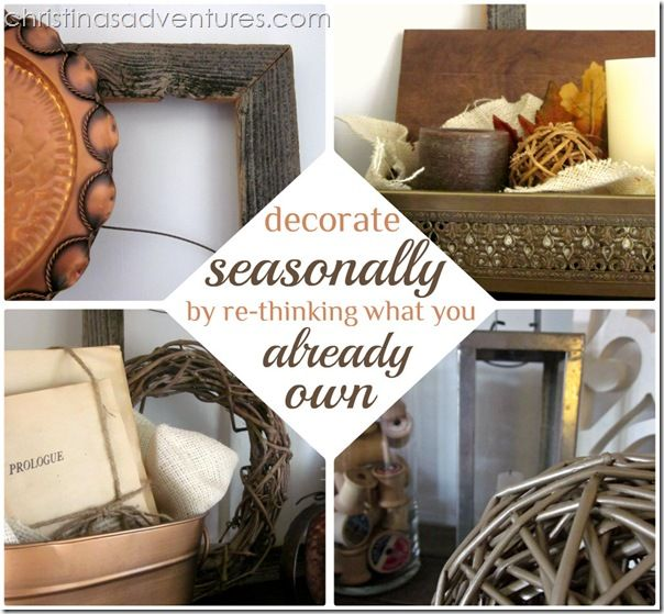 Decorating for FALL {re-thinking what you already own}