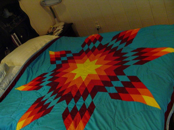 Beautiful Native American Lakota Sioux Hand Quilted Satin ... |Indian Star Quilts