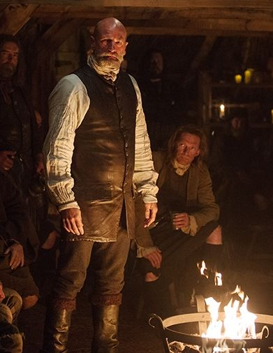 "Dougal MacKenzie in an inn collecting money for the Jacobite cause. | Outlander S1E5 'Rent' | Claire: ""The next morning as I watched them pack, I saw the men in a different light, not criminals but rebels. I wished that I could tell them that they were on the losing side of history, that is was all a pipe dream. The Stuarts would never unseat the Protestant King George II. But how could I tell them that? These proud, passionate men, who lived and breathed for a flag of blue and white."""
