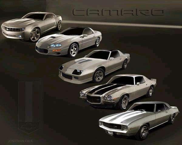 Chevrolet Camaro Generations Camaros Pinterest