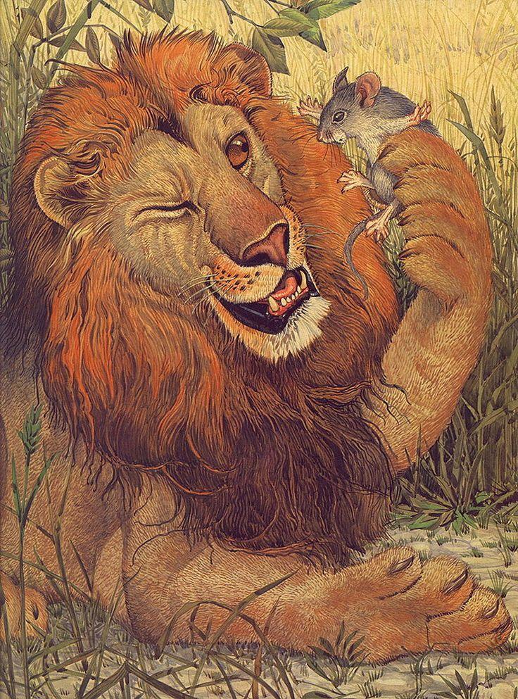 насос лев и мышь сказка с картинками идет формах, которых