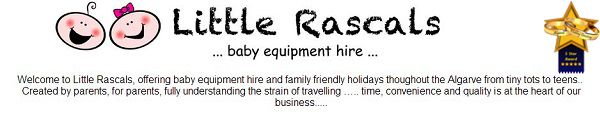Welcome to Little Rascals, offering baby equipment hire and family friendly holidays throughout the Algarve from tiny tots to teens..  Created by parents, for parents, fully understanding the strain of travelling ….. time, convenience and quality is at the heart of our business..... http://www.algarveweddingdirectory.info/section699735.html