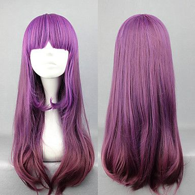 Élégant dégradé violet 60cm Princesse Lolita perruque