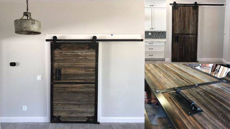 Sliding barn door from old prison fence--with forged ...