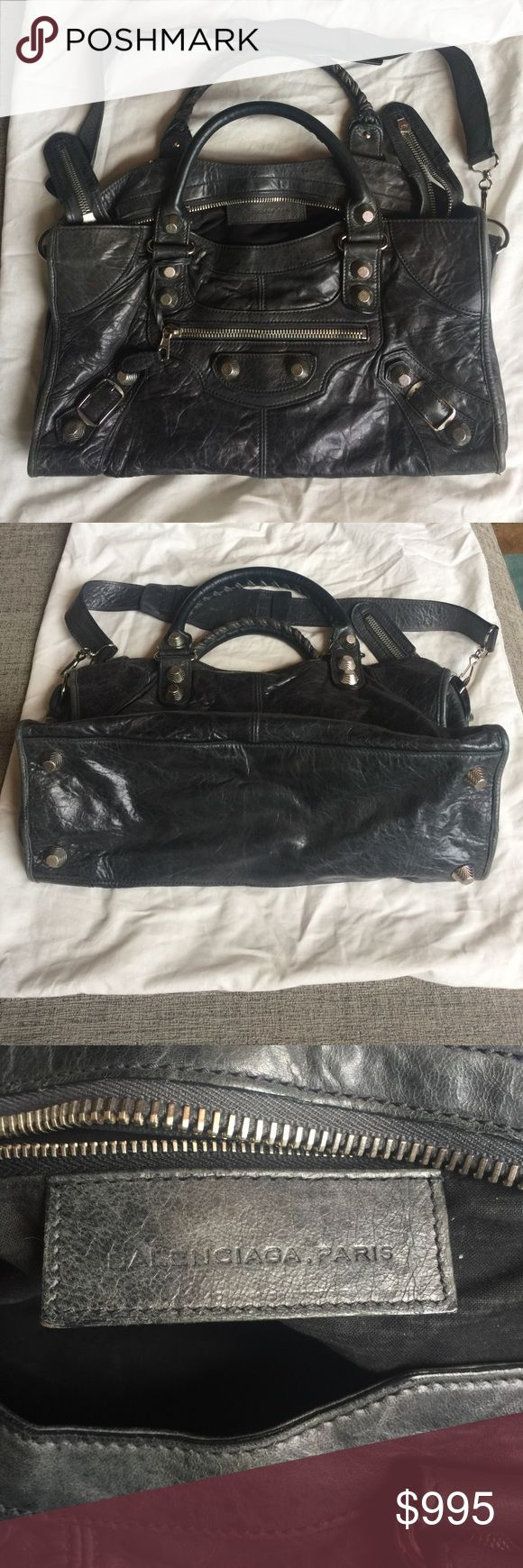 Balenciaga Giant 12 Siver City Bag This bag is a blue gray color, large and in excellent condition. Balenciaga Bags Shoulder Bags