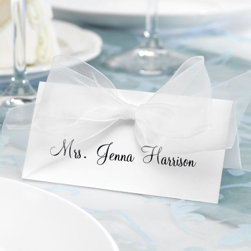 Place Card with Adhesive Bow