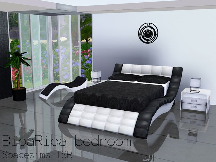 A Spacious Bedroom For Modern Sims. Your Sims Can Either Relax In Their  Sleek Bed