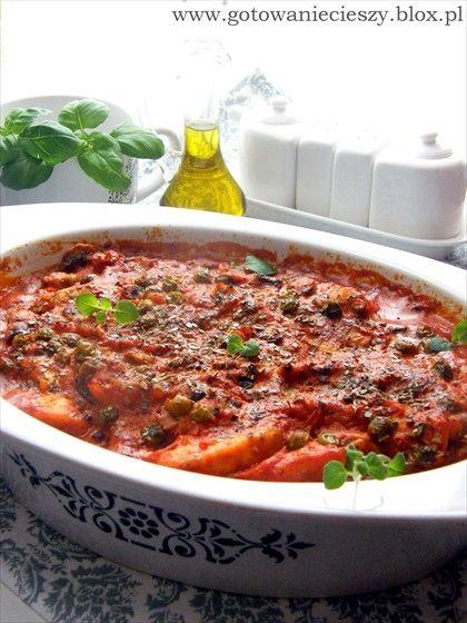 Zapiekanka włoska -kurczak, mascarpone, pomidory