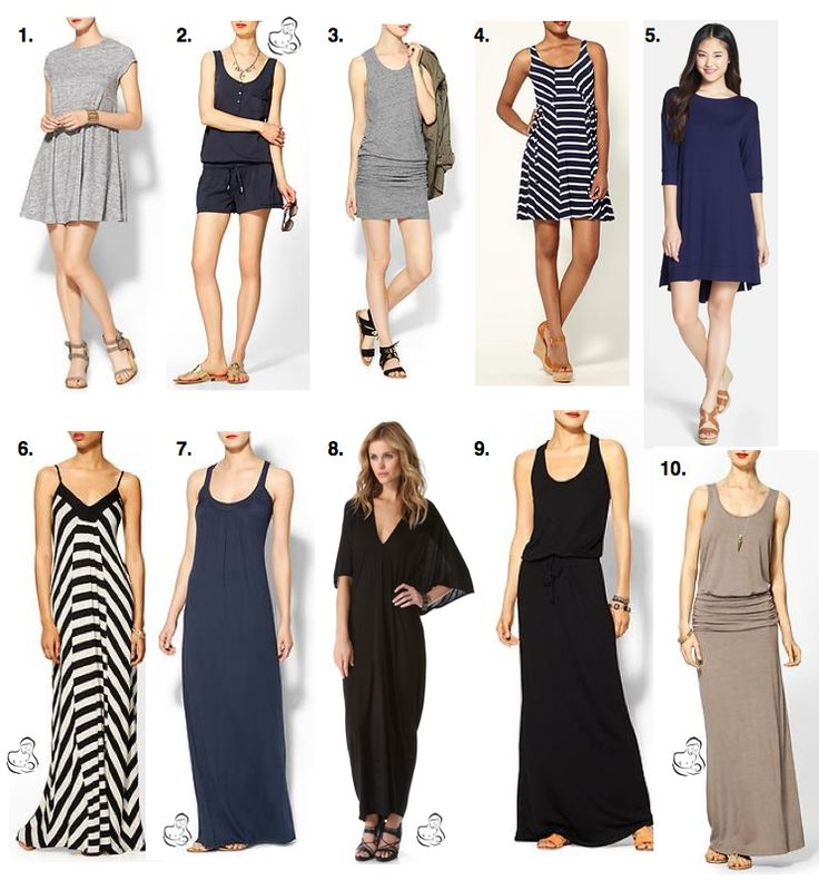"Postpartum ""tummy-hiding"" dresses you'll actually wear this summer. Most of these are great for nursing too!"