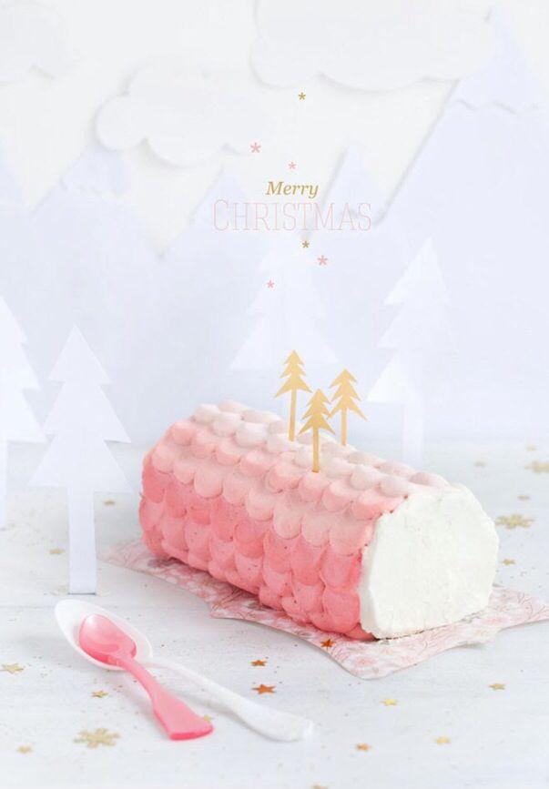 Ombré jul torte