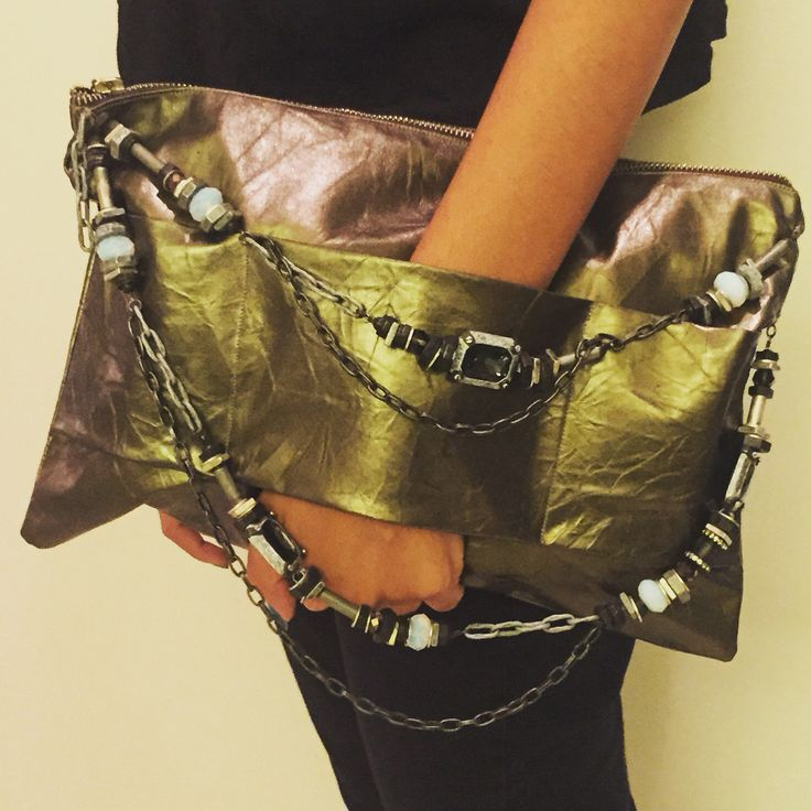 Handmade Leather Clucth