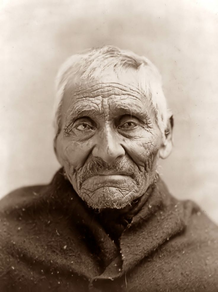 Old Tlingit Indian What A Beautiful Face He Has Nobody